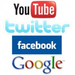 YouTube, Twitter, Facebook and Google