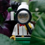 Lego explorer figure with magnifying glass